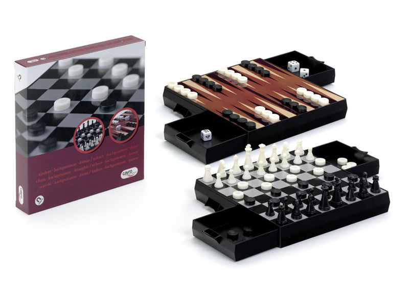 AJEDREZ-DAMAS-BACKGAMMON 17X17.MAGNETICO