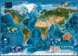 THE WORLD SATELITE MAP