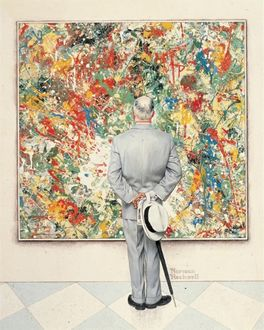 THE CONNOISSEUR-NORMAN ROCKWELL