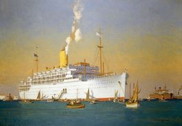 STRATHEDEN AT ANCHOR-NORMAN WILKILSON