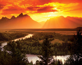 GOLDEN SUNSET, WYOMING
